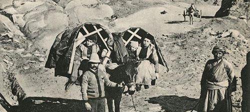 تصویری از سبک مسافرت یک خانواده قجری در سال 1913