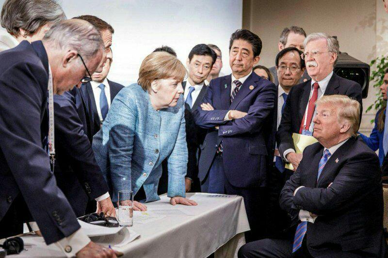عکسی فراموش نشدنی: سران اروپا در مقابل ترامپ با گارد بسته