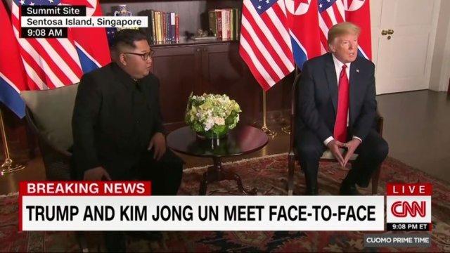 دیدار تاریخی رهبران کرهشمالی و آمریکا: اون و ترامپ دست دادند