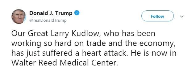 ترامپ از سکتۀ قلبی مشاورش خبر داد (عکس)