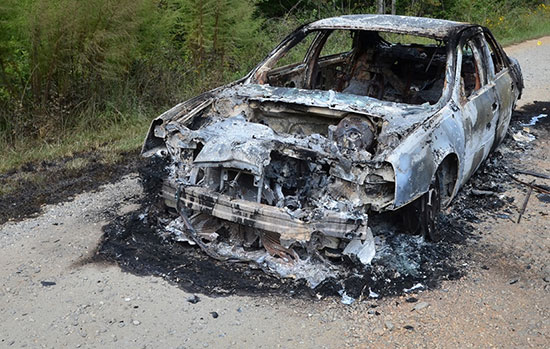 گوشی سامسونگ باعث انفجار یک خودرو شد (+عکس)