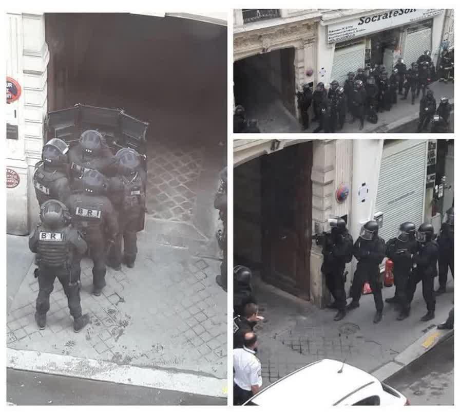 گروگانگیری در پاریس (+عکس)/ گروگانگیر خواهان مذاکره با مقامات سفارت ایران