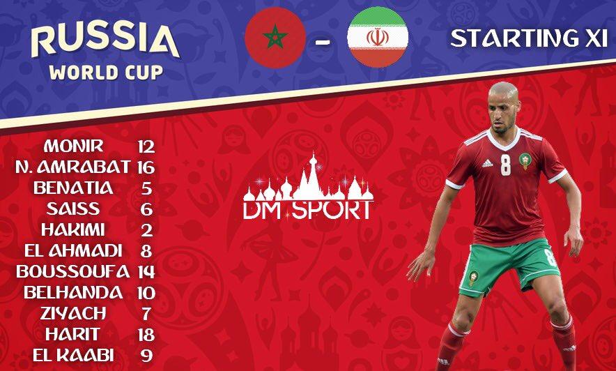 اعلام ترکیب تیم ملی مراکش برای دیدار با ایران