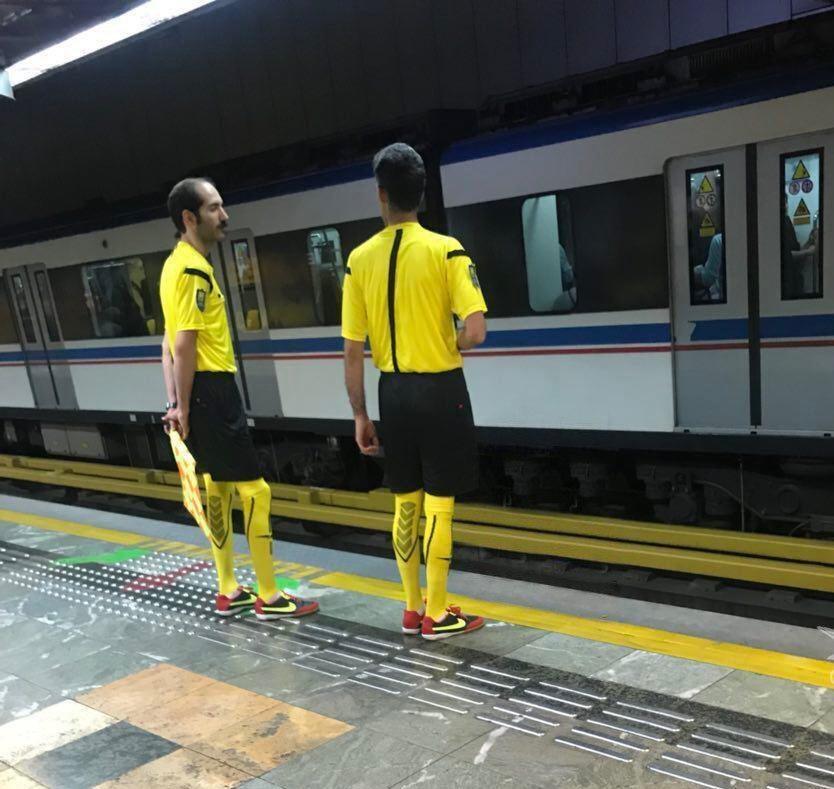 ماموران مترو تهران با لباس داوری! (عکس)