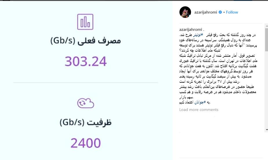 پاسخ آذری جهرمی به منتقدان رفع فیلتر توئیتر (+ عکس)