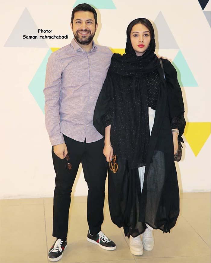 اشکان خطیبی و همسرش در یک مراسم (عکس)