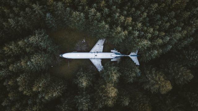 زندگی در هواپیمای بازنشسته (عکس)