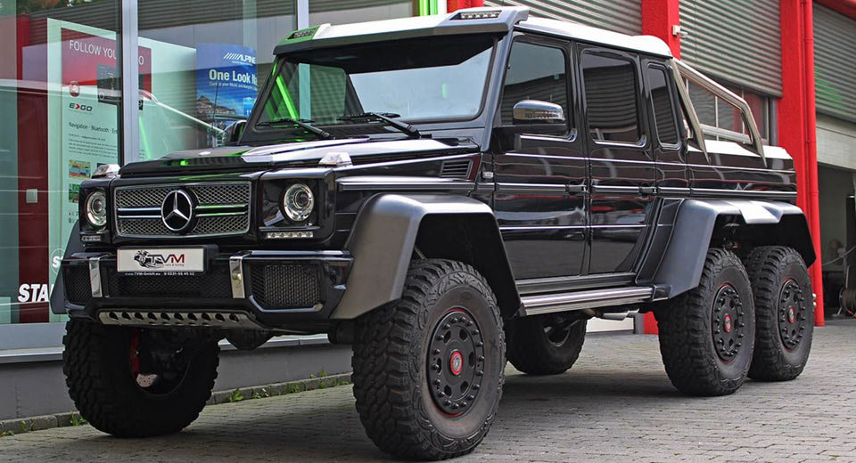 مرسدس 6 چرخ در تقابل با شامان روسی/ کدام خودرو بلندترین SUV جهان است؟