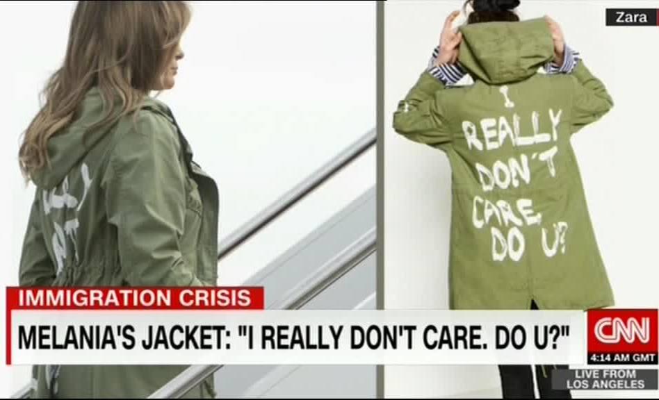 نوشته روی لباس همسر ترامپ خبر ساز شد (+عکس)