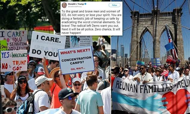 تظاهرات سراسر آمریکا علیه سیاست مهاجرتی ترامپ (+عکس)