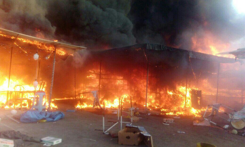 حریق در بازار روز گلشهر کرج/ حادثه 4 مصدوم بر جای گذاشت (+ عکس)