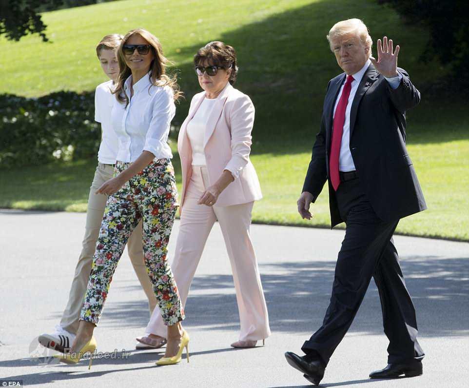 تعطیلات خانوادگی ترامپ و خانوادهاش (+عکس)