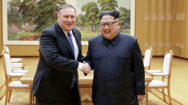 پمپئو وارد کره شمالی شد