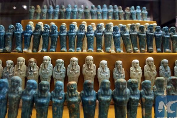 نمایش اشیاء تاریخی استردادی از ایتالیا در موزه ملی قاهره (+عکس)