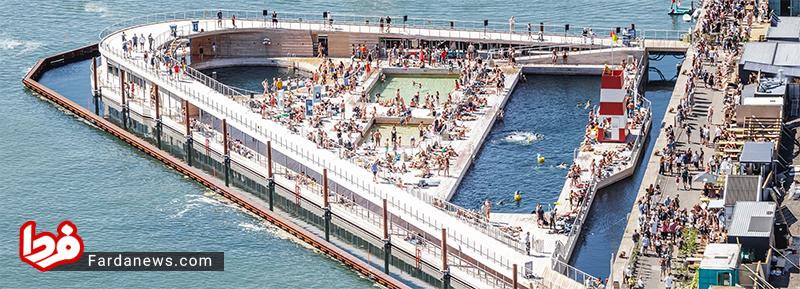 حمام عجیب ساحلی در دانمارک (عکس)