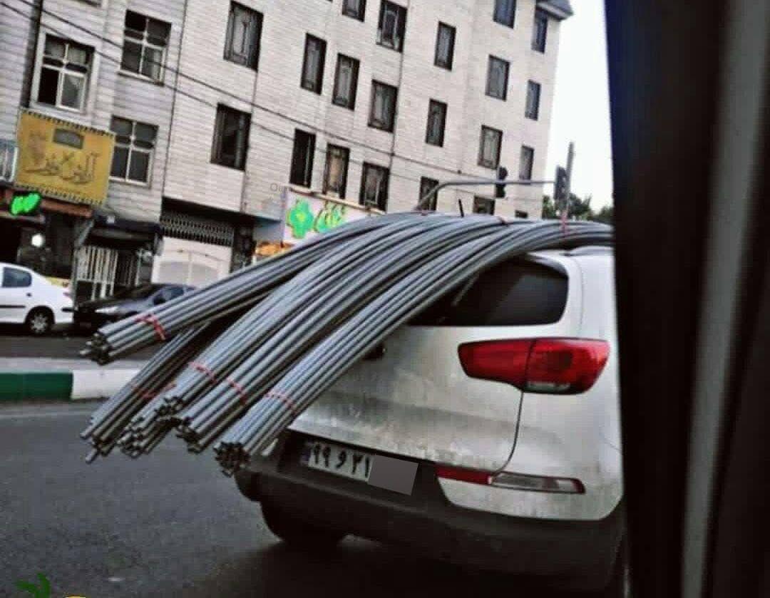 حمل عجیب بار با شاسی بلند 300 میلیون تومانی(عکس)