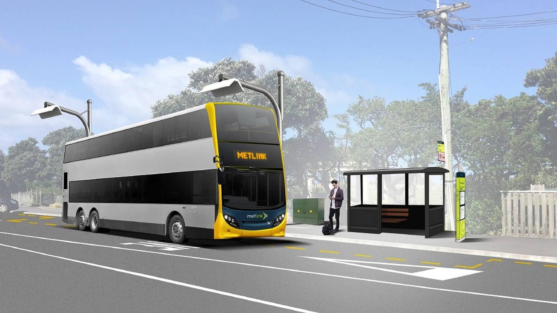 اتوبوسهای دو طبقه برقی در نیوزلند