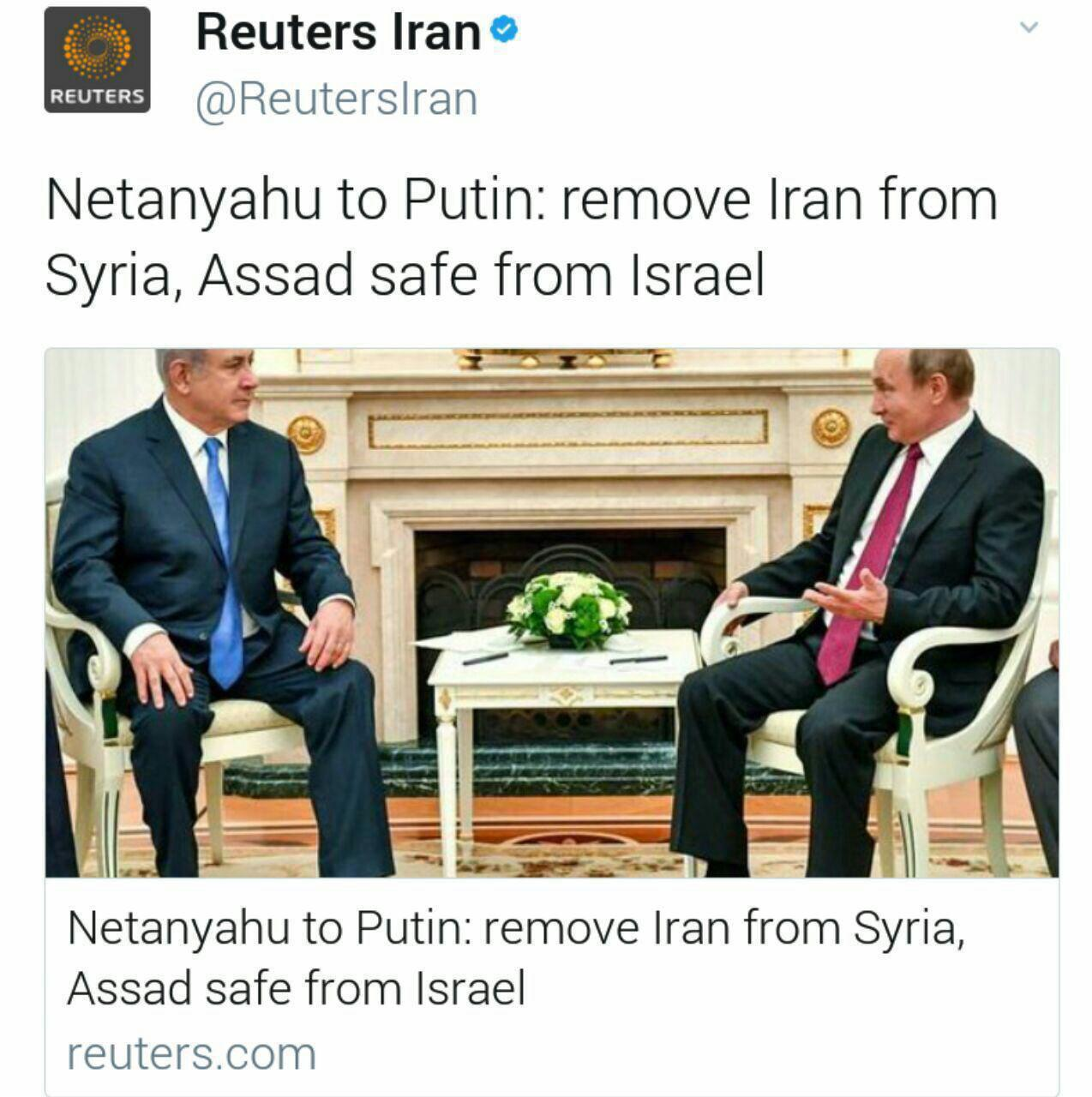 نتانیاهو با پوتین دیدار کرد/ نتانیاهو به پوتین: ایران را از سوریه خارج کنید/ اسد از طرف اسراییل ایمن است