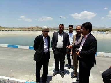 بازدید فرماندار شهرستان آشتیان از تاسیسات آب و فاضلاب این شهر