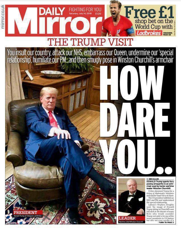 روزنامه دیلی میرر خطاب به ترامپ: چطور جرات کردی؟ (عکس)
