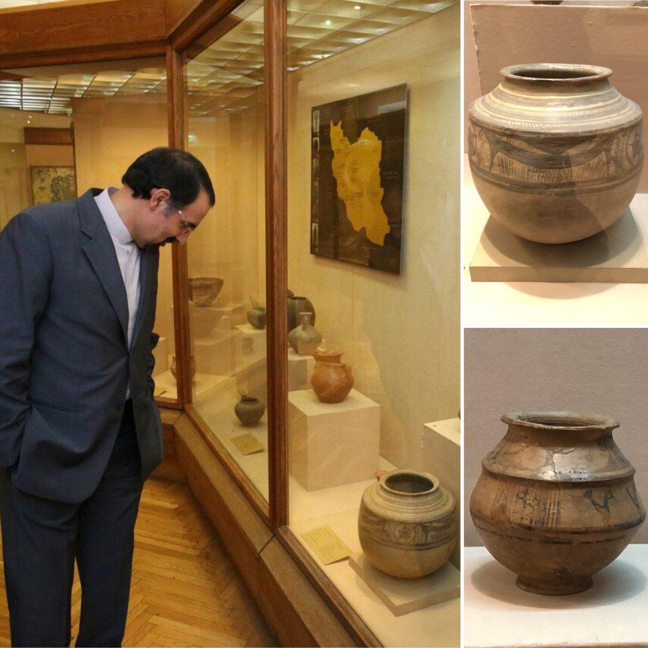 نمایش 2 اثر تاریخی از نهاوند در موزه هنرهای شرقی مسکو