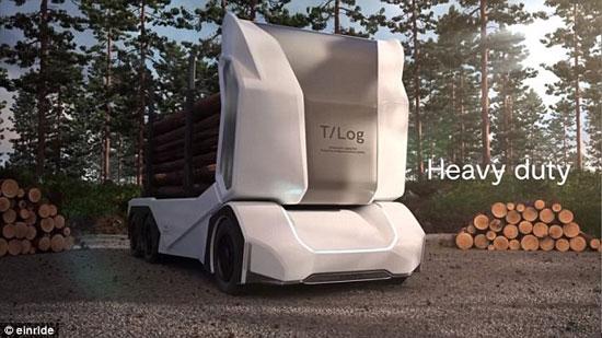 کامیون بدون راننده سوئدی 16 تن بار میبرد (+عکس)