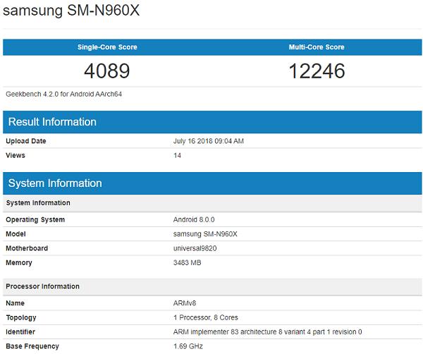 پردازنده اگزینوس 9820 گلکسی نوت 9 عملکردی فراتر از انتظار دارد