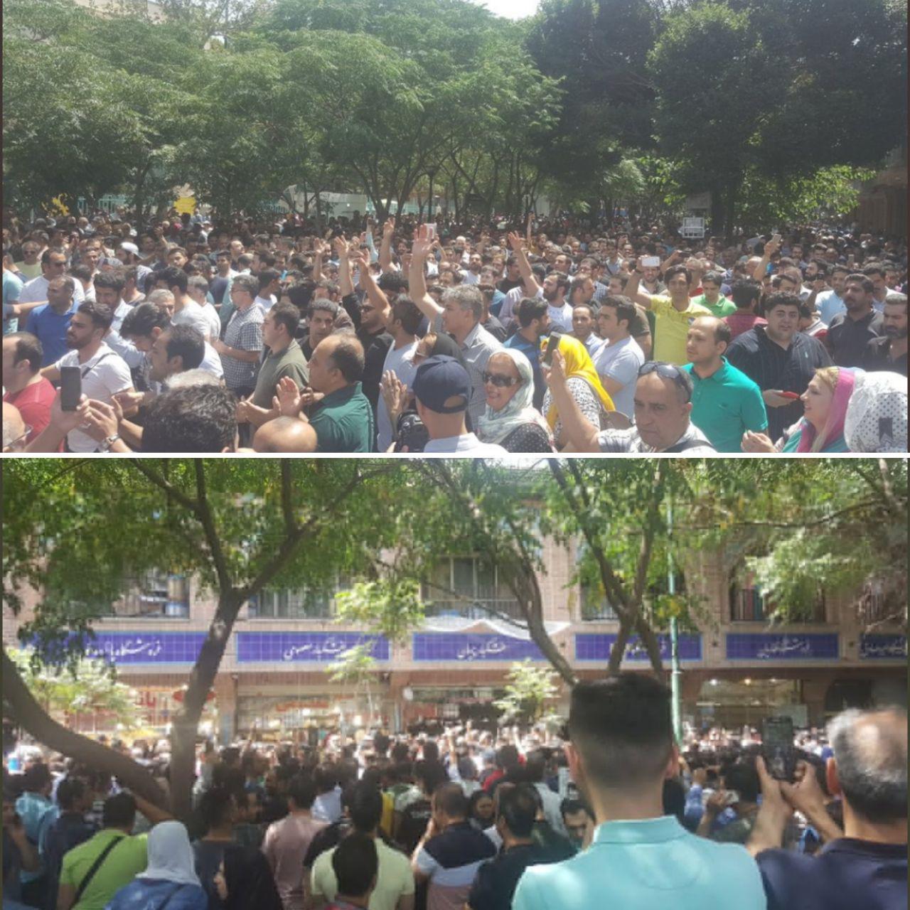 بازاریان تهران در اعتراض به رکود و قیمت ارز دست از کار کشیدند (+عکس)