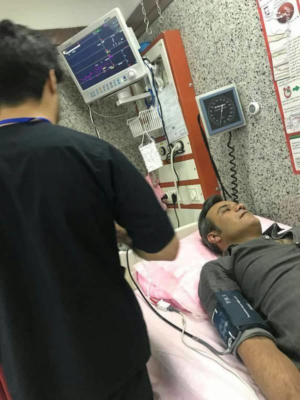 حمله قلبی شهرام شکوهی بهخاطر هیجان بازی ایران (عکس)