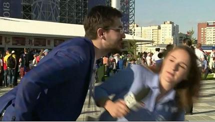 جام جهانی روسیه؛ واکنش محکم خبرنگار زن برزیلی به آزار جنسی مقابل دوربین (+عکس)