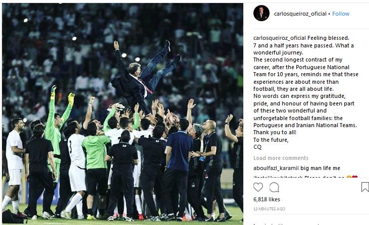 خداحافظی کارلوس کی روش با تیم ملی ایران (+عکس)
