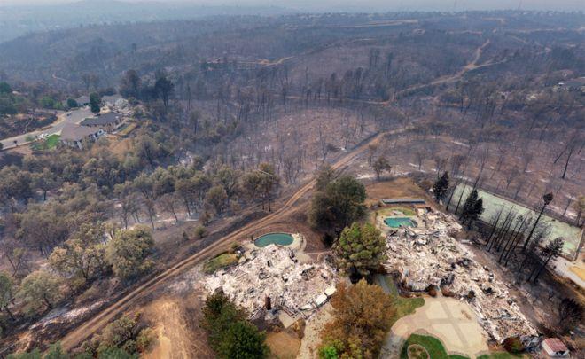 بزرگترین آتشسوزی تاریخ کالیفرنیا (+عکس)