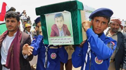 یمن؛ تشییع دهها کودک که در بمباران ائتلاف سعودی (+عکس)