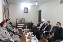 دیدار مدیر امور آب و فاضلاب شهرستان اراک با امام جمعه شهر کارچان