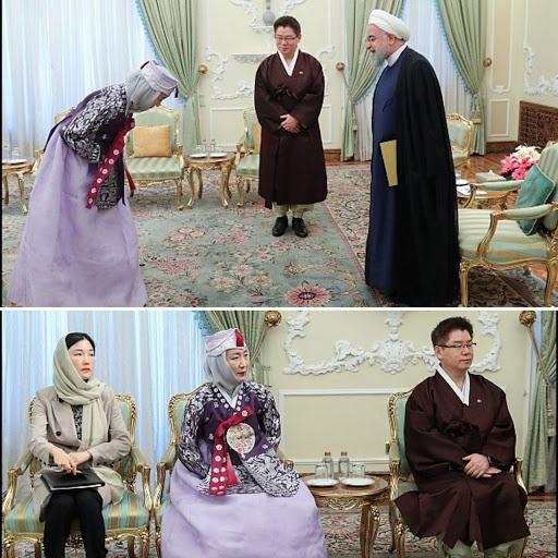 لباس سفیر کره جنوبی و همسرش در دیدار روحانی (عکس)