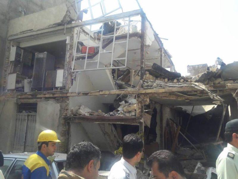 انفجار لوله گاز در تهرانپارس/ یک نفر کشته و 5 نفر مصدوم شدند(+عکس)