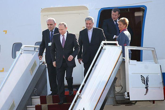 پوتین وارد تهران شد (+عکس)