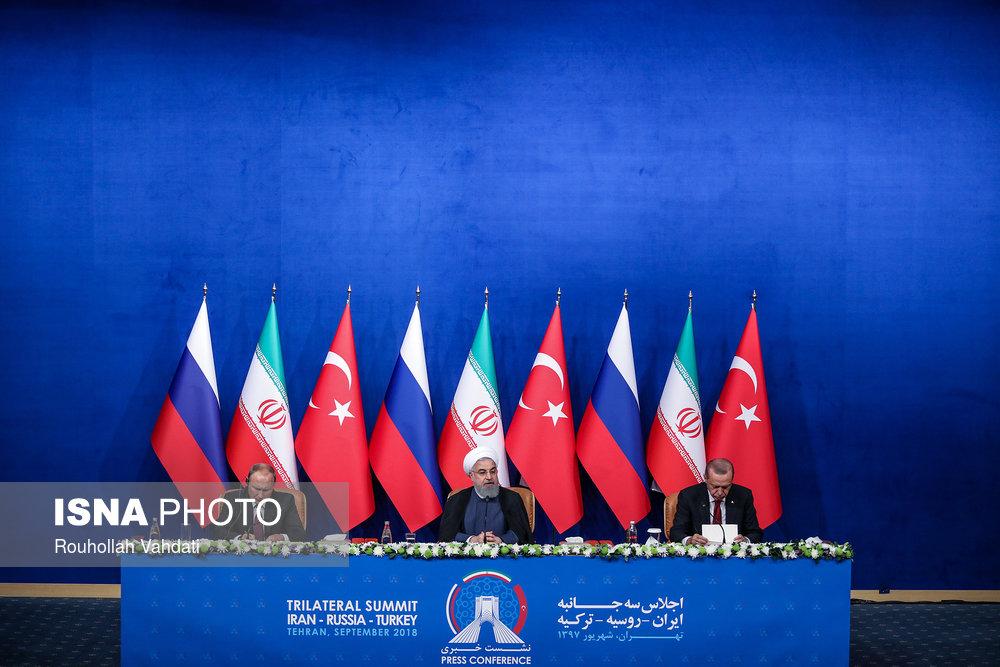 اجلاس سه جانبه در تهران (عکس)