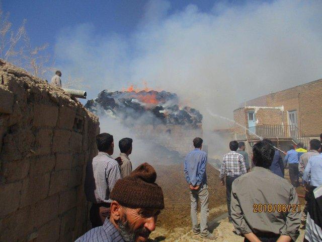 بچهها یک روستا را به آتش کشیدند (+عکس)