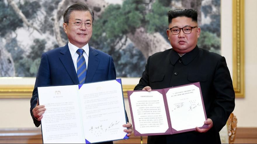 توافق سران دو کره: خلع سلاح اتمی کردن و میزبانی مشترک المپیک 2032