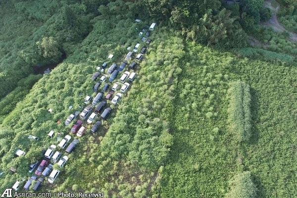 فوکوشیما؛ خودورهایی که توسط طبیعت بلعیده می شوند! (+تصاویر)