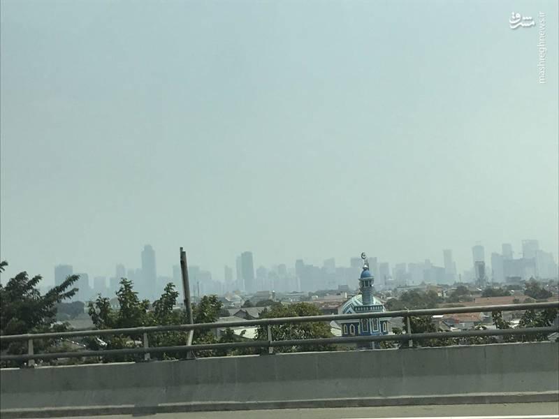 گم شدن برجهای جاکارتا در آلودگی (عکس)