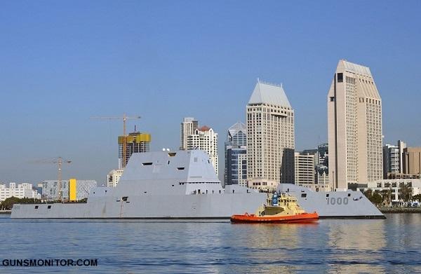 Zumwalt؛ ناوشکنی که اندازه یک قایق دیده می شود! (+تصاویر)