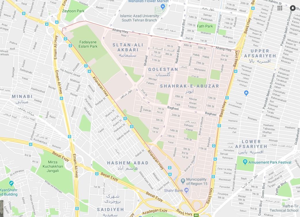 درباره محله ابوذر تهران بیشتر بدانید