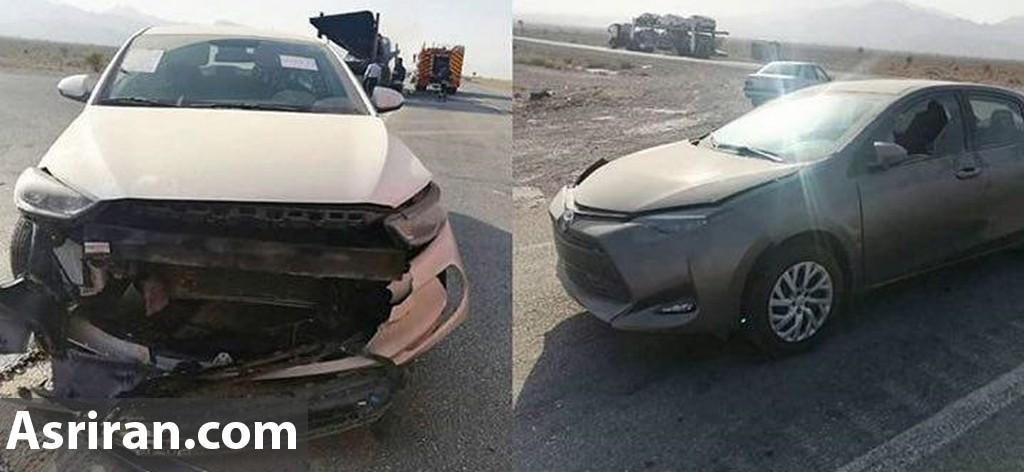 آتش گرفتن تریلی حامل خودروهای لوکس در جاده بند عباس (+عکس و فیلم)