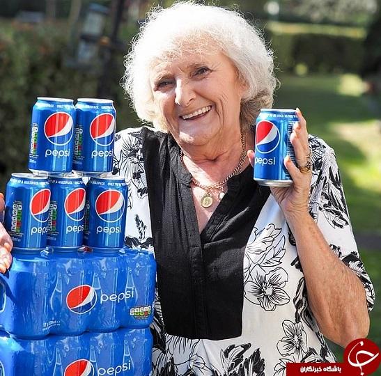مادربزرگی که روزی 4 قوطی نوشابه مینوشد (+عکس)