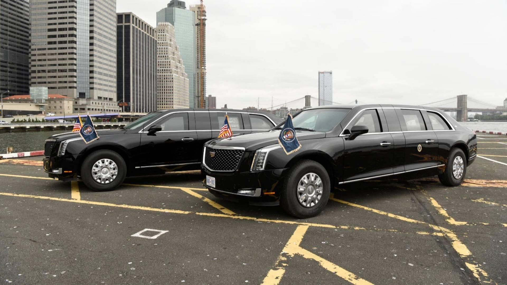 لیموزین جدید ترامپ در نیویورک