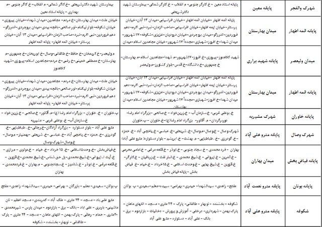 اعلام جزئیات خطوط ویژه سرویس مدرسه (+جدول)