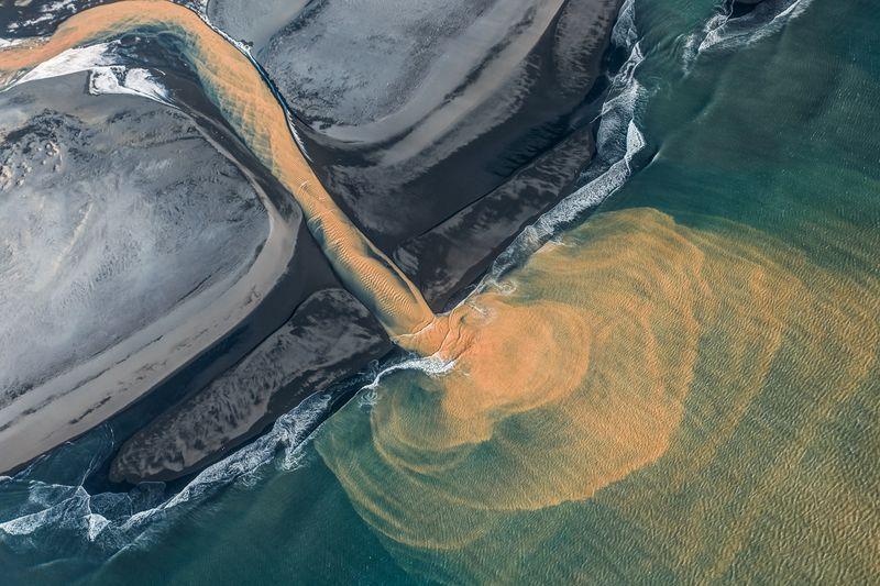 تصویر هوایی از جزیره ایسلند