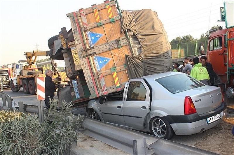 5 کشته در تصادف جاده ایلام به مهران (+عکس)